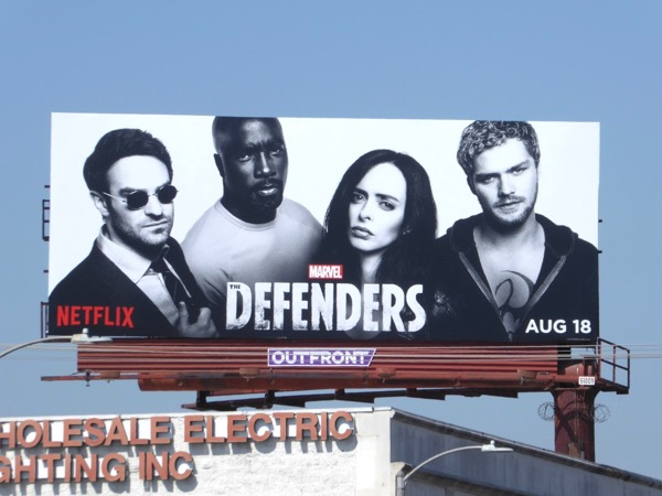 Marvel Defenders Netflix series billboard