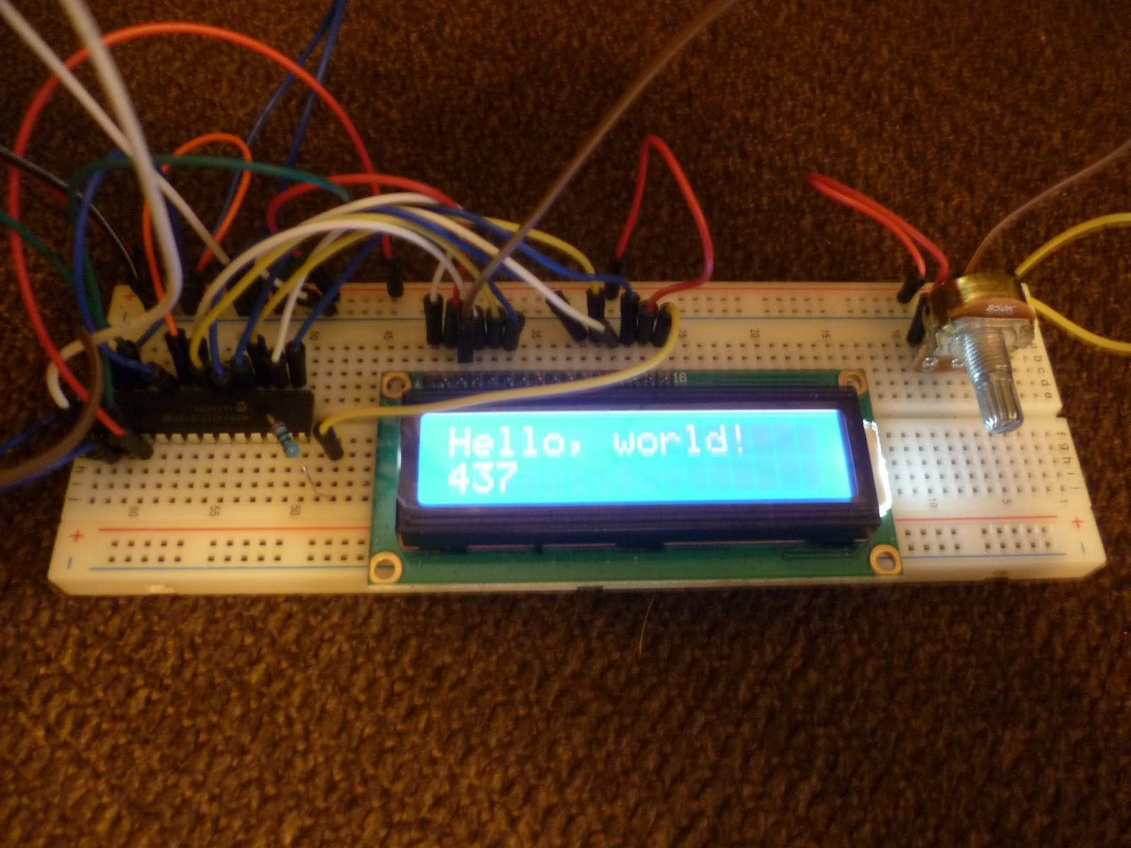 DIY I2C LCD - Circuit Crush