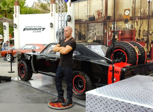 Vin Diesel waxwork Furious 7 1969 Off Road Charger