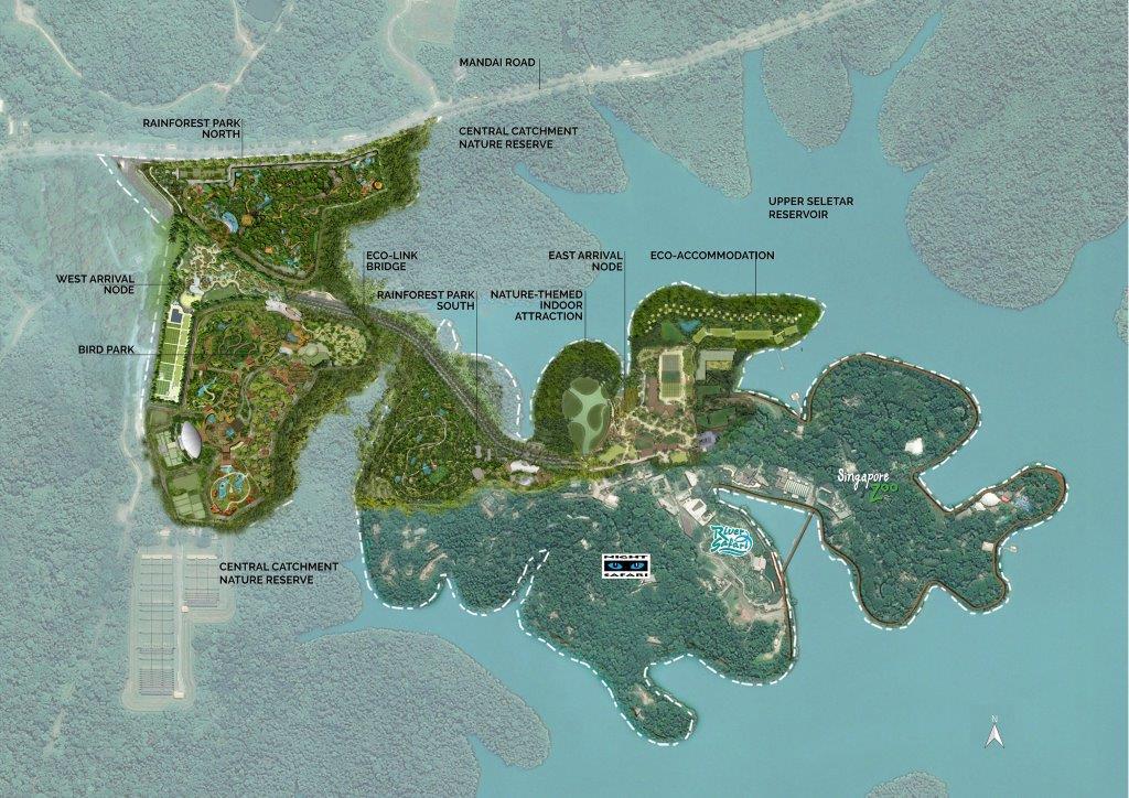 Masterplan of the Mandai rejuvenation project. (Image: Mandai Park Holdings)