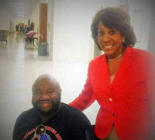 Timothy Redd and Congresswoman Maxine Waters