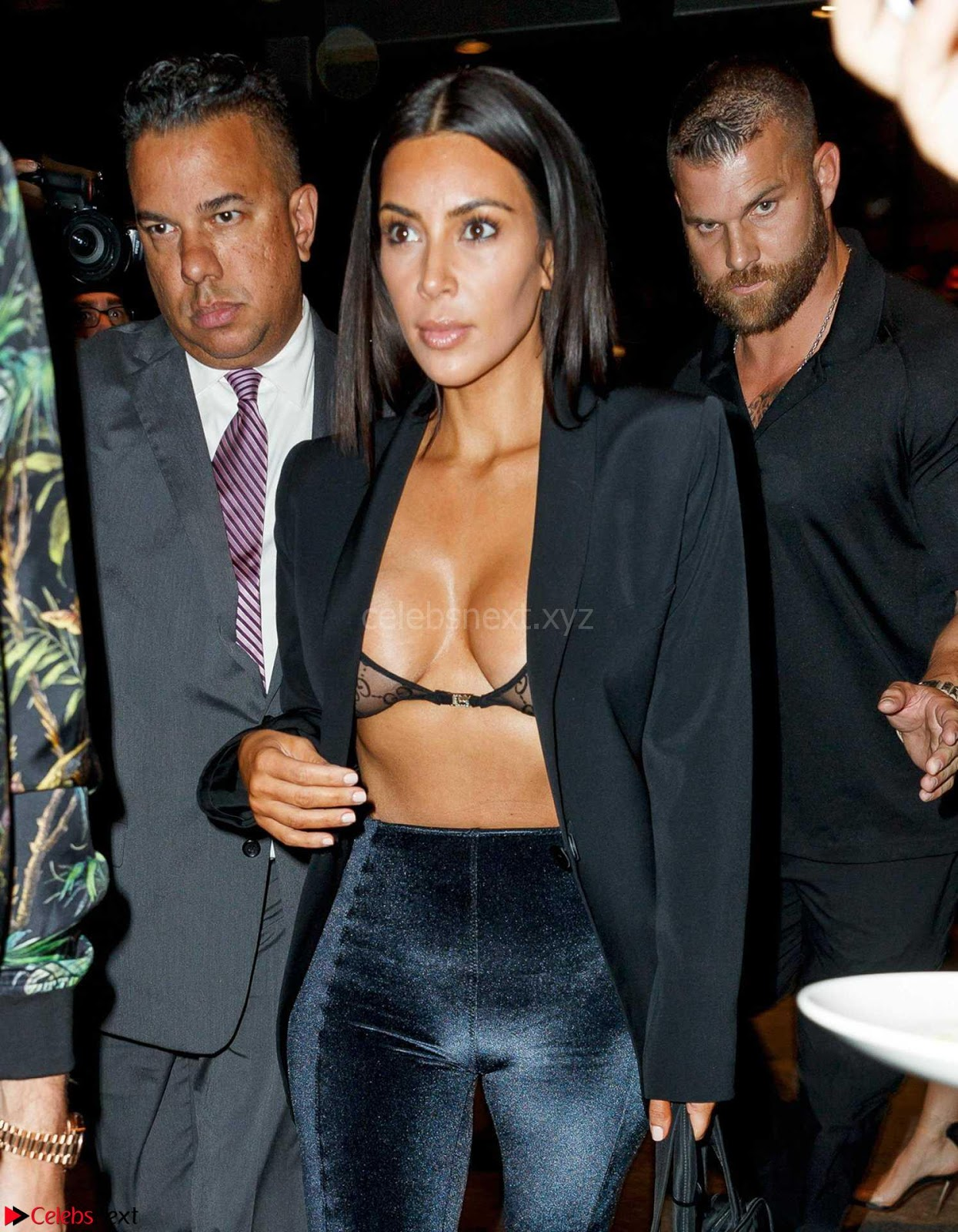 Kim Kardashian shameless Huge Tits Nipples Exposed in Sheer Transparent Bra Sexy Tits July 2017