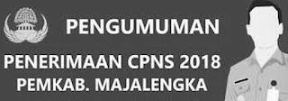 Pengumuman Formasi Lowongan CPNS 2018 Kabupaten Majalengka