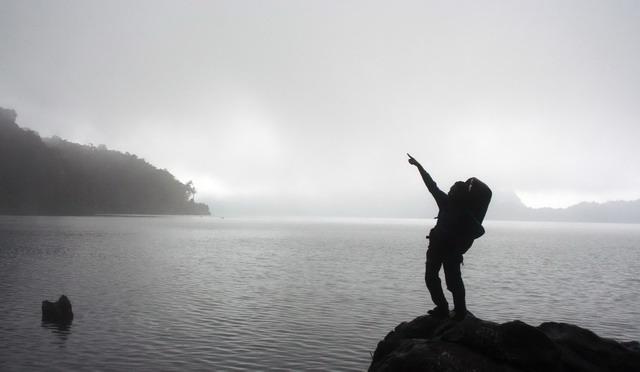tepian danau gunung tujuh