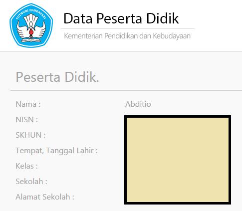 gambar data peserta didik UN 2016