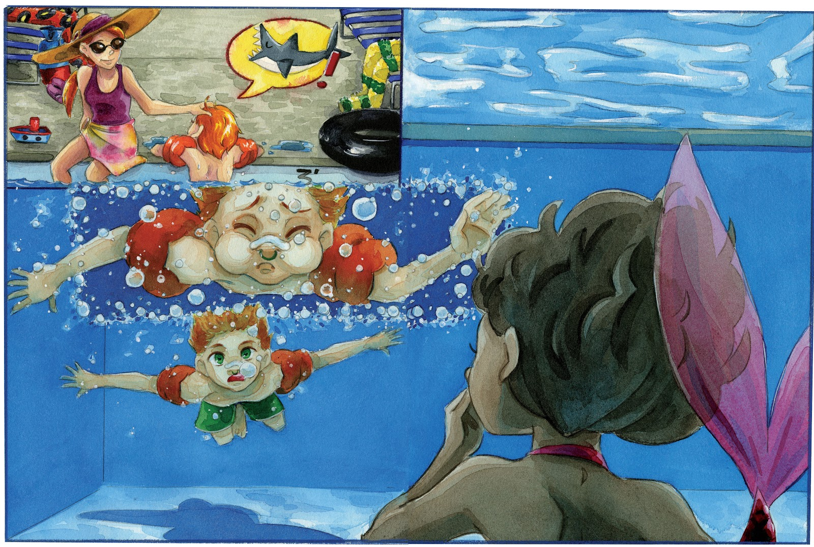 swimming pool porno comics