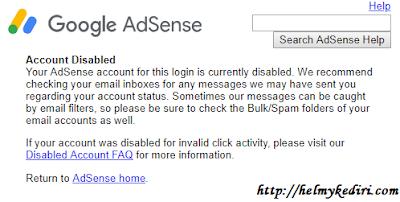 Bangkit kembali setelah akun adsense dibanned/disabled
