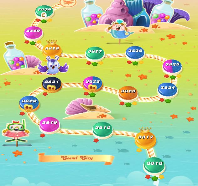 Candy Crush Saga level 3816-3830