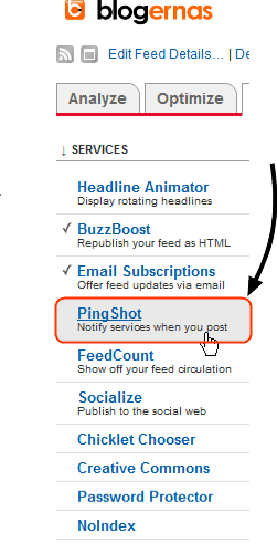 Cara Ping Otomatis Blog ke Google via Feedburner