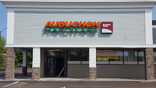 Aubuchon Hardware relocated from two locations in Franklin to this one location in Horace Mann Plaza