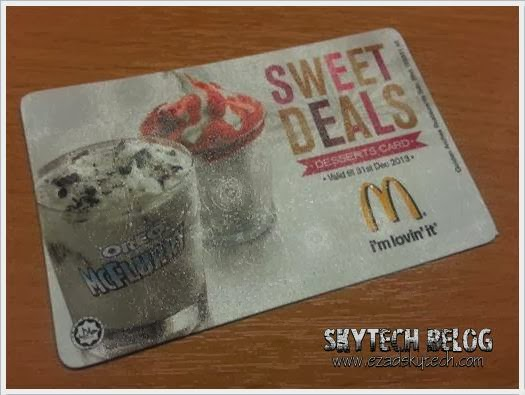 McDonalds Desserts Card Sweet Deal
