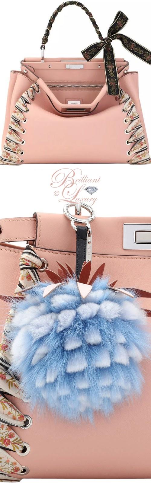 Brilliant Luxury ♦ Fendi Peekaboo Medium Ribbon Whipstitch Satchel Bag in Light Pink