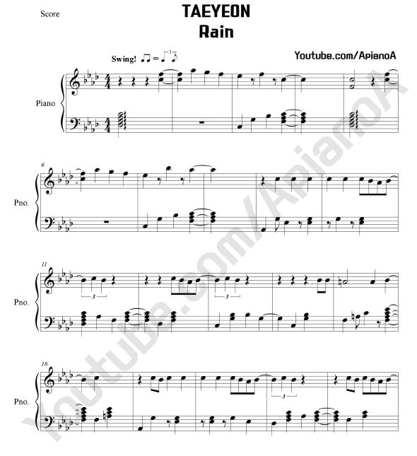 ApianoA Kpop Piano Cover: TAEYEON