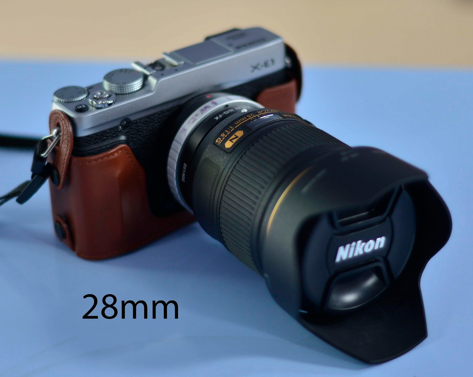 Nikon 28mm And 85mm F 18g Lenses On Fuji X E1 Continued Kipon G Lens To Leica Sl Camera Adapter Incidentally Just Give An Idea As What Using The Is Like See Below Two Marks Ive Put Barrel Of Show How