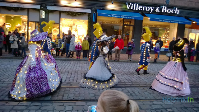 illuminated dresses at the Christmas parade