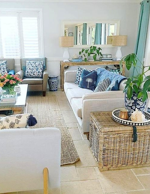 Rattan Wicker Trunk Accent Side Table Idea Living Room