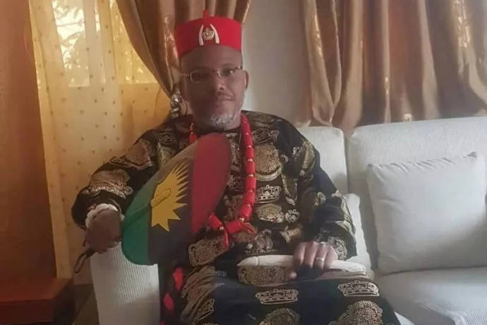 Biafran Agitators donate cow allegedly named 'Buhari' to Nnamdi Kanu
