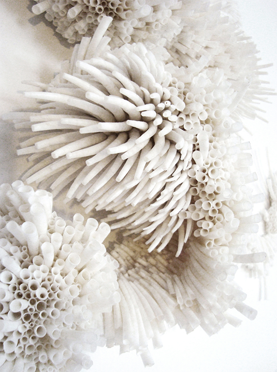 Textile sculpture by Rowan Mersh