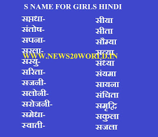 Hindu baby girl names starting with s.