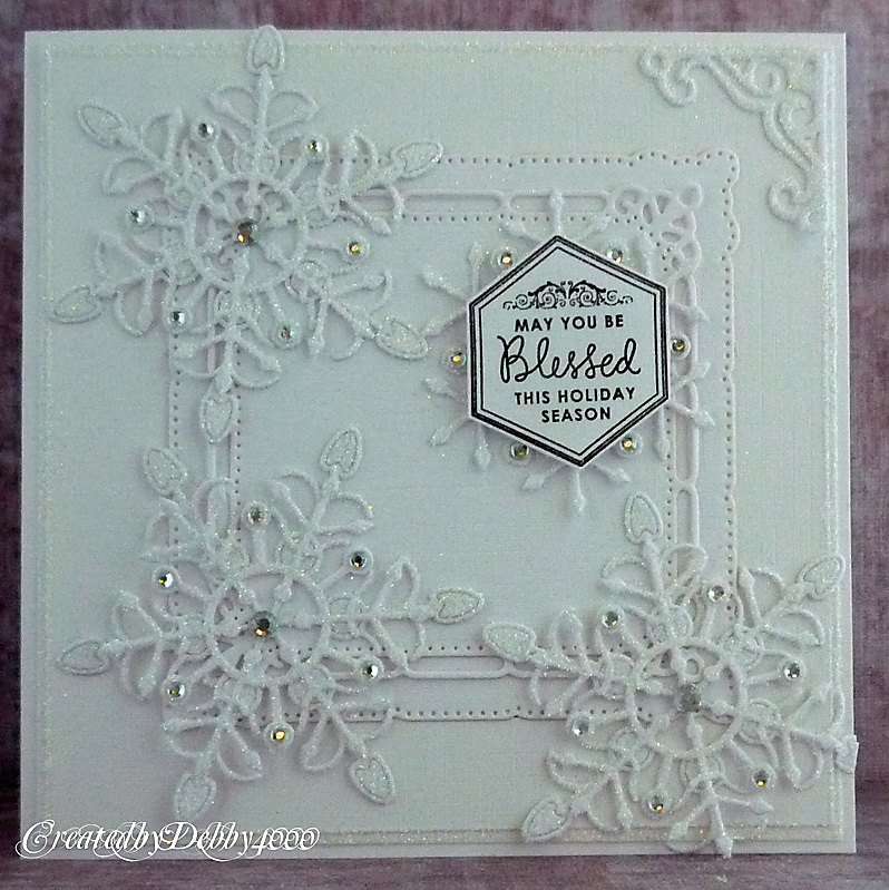 Снежинки открытка скрапбукинг
