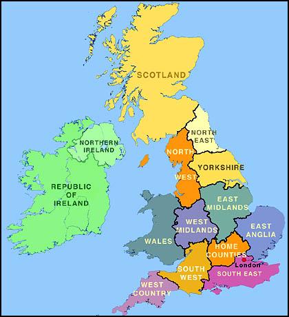 Carte Du Monde Unie.Carte Du Royaume Uni Departement Region Carte Du Monde