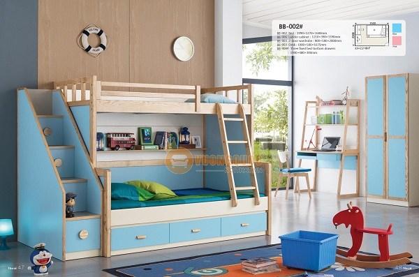 Giường tầng đa năng giải pháp hiệu quả cho phòng của bé