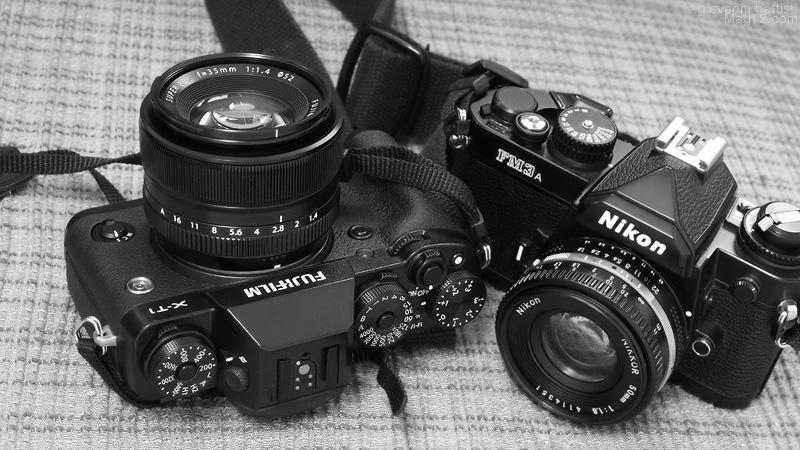 La Nikon FM3A e la Fuji X.T1