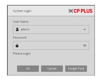 Halaman Login DVR CP Plus