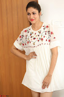 Lavanya Tripathi in Summer Style Spicy Short White Dress at her Interview  Exclusive 167.JPG