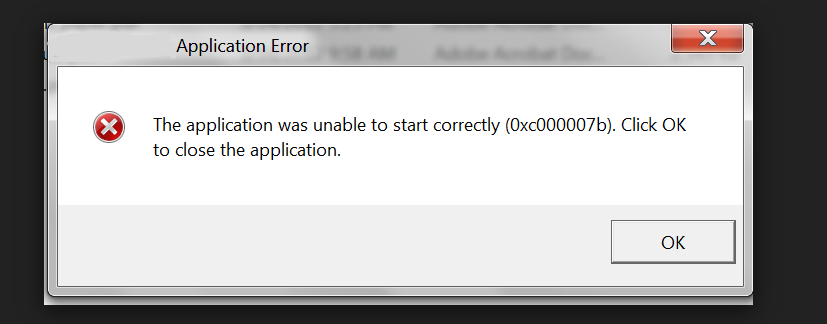 solved] FIX error 0xc000007b