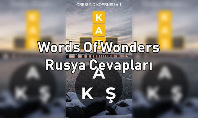 Words Of Wonders Rusya Cevaplari