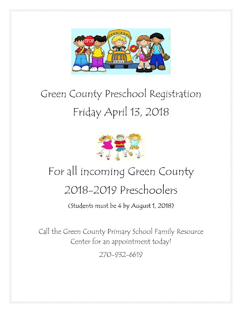 Green County Preschool Registration