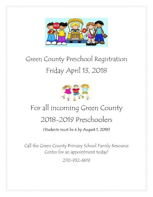 Green County Preschool Registration