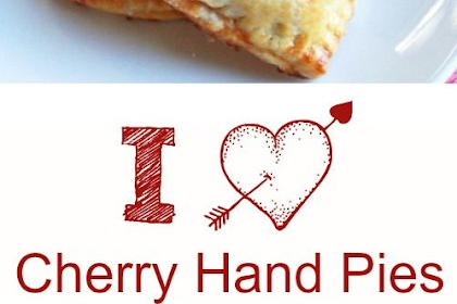 Heart Shaped Cherry Hand Pie for Valentine's Day