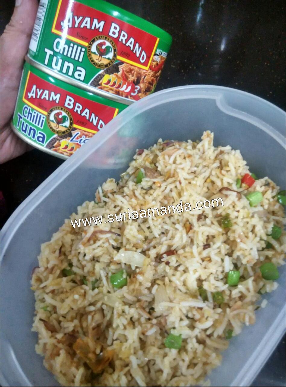 Nasi Goreng Chilli Tuna Ayam Brand Extra Hot Suria Amanda