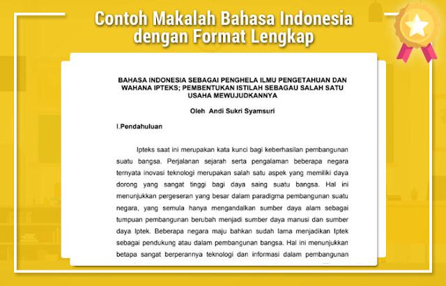 Contoh Makalah Bahasa Indonesia dengan Format Lengkap