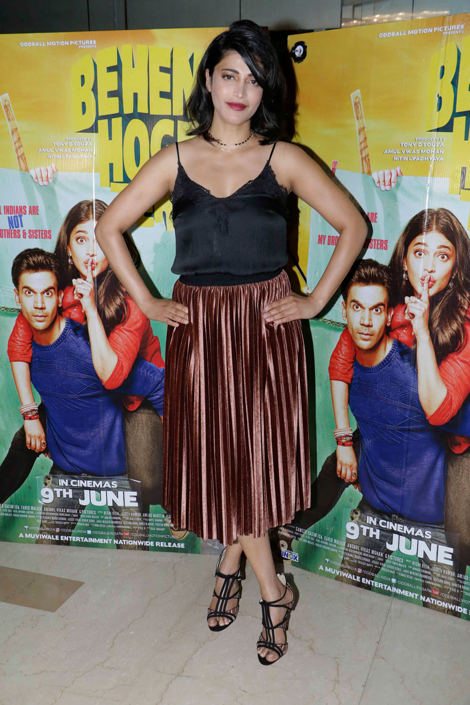 Shruti Haasan Attends The Screening of Behen Hogi Teri at PVR - ICON