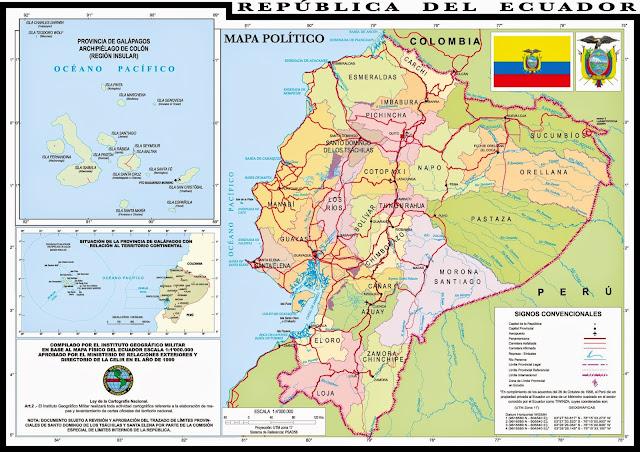 mapa ecuador hd
