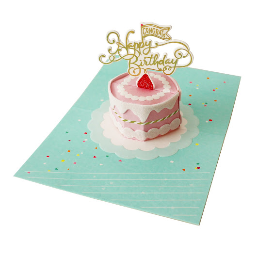 New Arrival Petite Sweet Birthday Cake Pop Up Greeting Card