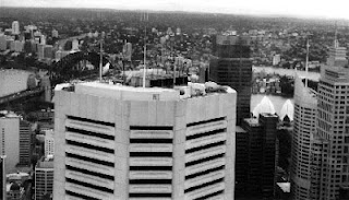 BLACK AND WHITE PHOTO OF SYDNEY CBD
