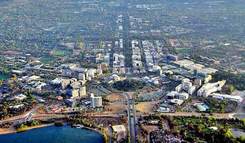 Imagem aérea de Camberra - Austrália