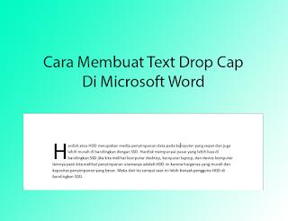 contoh drop cap