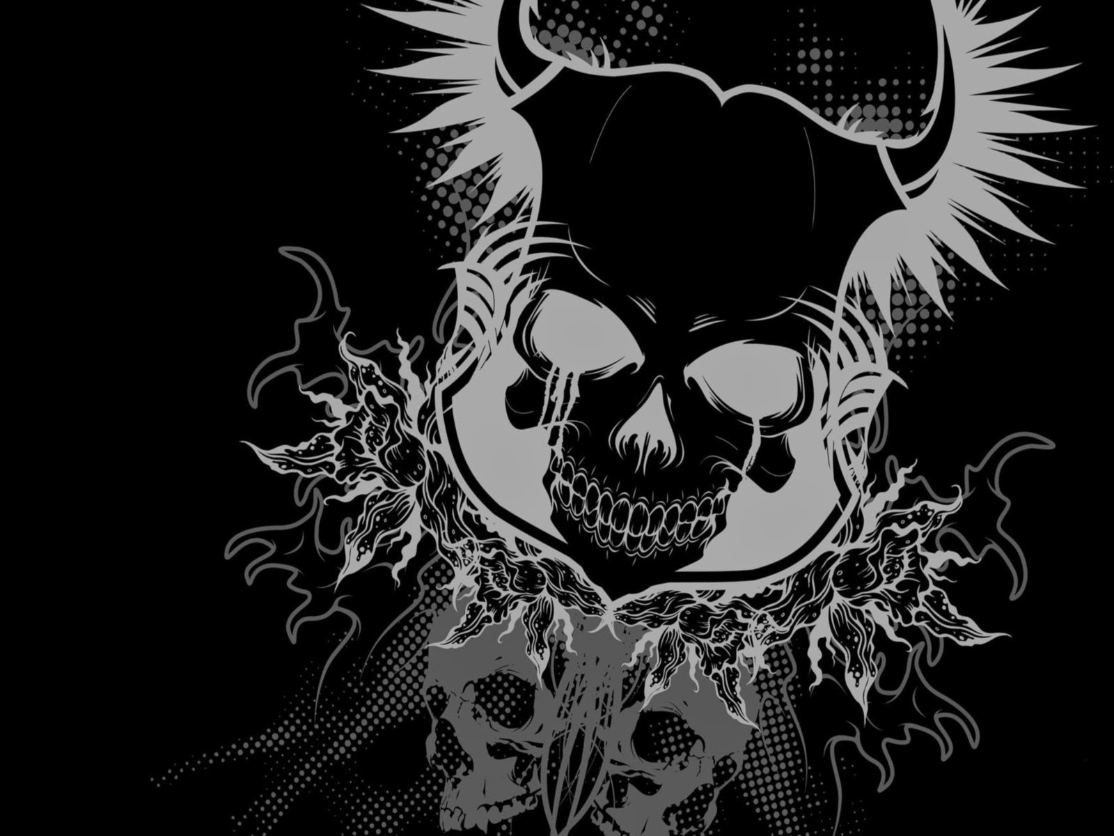 Awesome Skull Wallpapers Wallpapers Browse: Wallpapers (PC) (Celular): Rock In