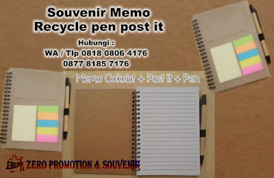 Memo Notes Post-It Pen, notes daur ulang, memo recycle daur ulang ramah lingkungan, Wooden Memo with pen recycle, Memo Notes Recycle Post It Pen Mika, Memo daur ulang, notes daur ulang, notes ring daur ulang, Notes cover polos 4 in 1 (notes + memo + stickynotes + bolpen)