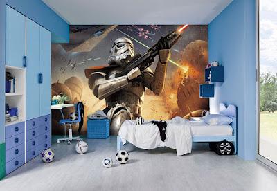 pojktapet star wars stormtrooper fototapet pojkrum fondtapet 3d