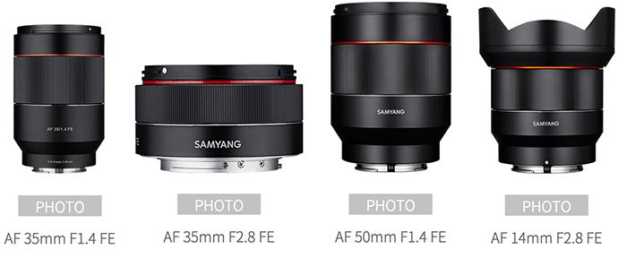 Автофокусные объектив Samyang для камер Sony