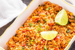 Vegetarian Mexican Rice #ricedinner #mexicanRice