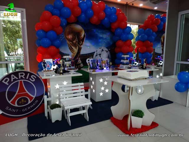 Festa tema PSG - Decoração aniversário