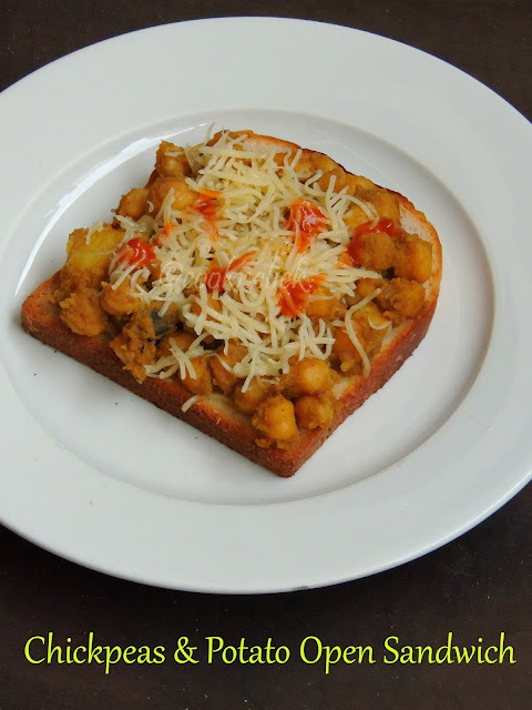 Open sandwich with chickpeas & potato