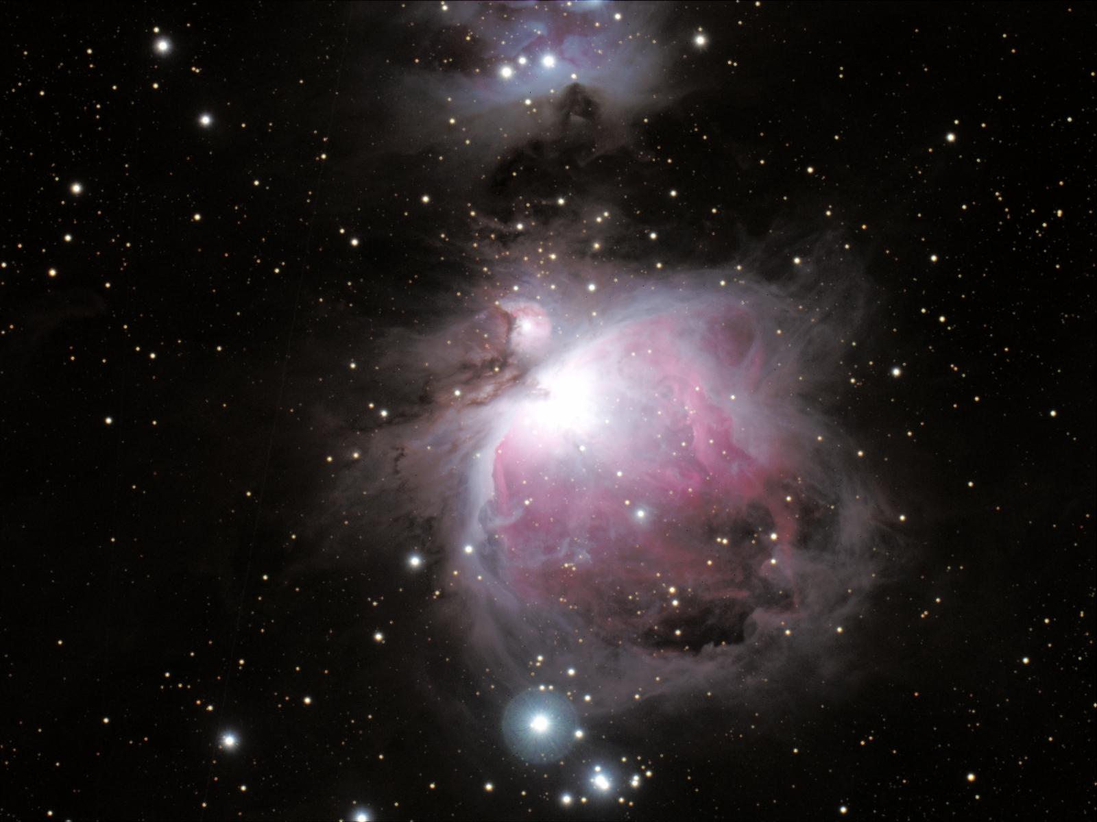 how big is orion nebula -#main
